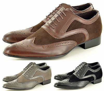 Men's Faux Suede Casual Formal Lace Up Winkle Pickers Brogues Shoes Uk Size 5-11 Um 50 Prozent Reduziert