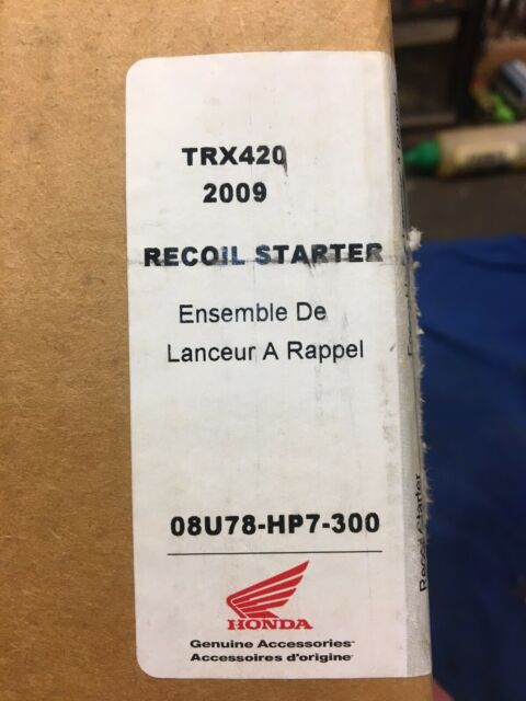 2009 NEW NOS HONDA TRX420 RECOIL STARTER/PULL START KIT