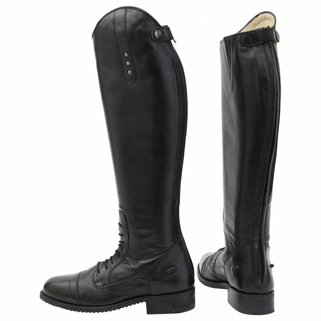 Horka Equestrian Ladies Mens Leather Freestyle Strap Closure Horse Riding Boots