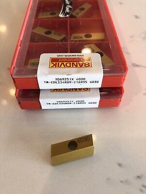 Sandvik Coromant Carbide Inserts X069251X TM-CDE334R09-216935 4030