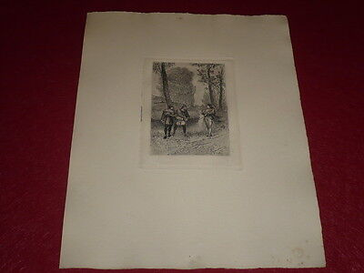 Other Antiques 2019 New Style Adolphe Lalauze Walter Scott Quentin Durward Etching Laid Avt Letter Louis Xi Spare No Cost At Any Cost