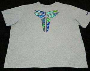 Nike-Kobe-Bryant-Dri-Fit-Shirt-Men-Sz-3XL-Black-Mamba-Logo-Gray-Grey-Multicolor