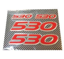 Targhetta adesiva laterale Yamaha T-Max con scritta rossa 530 kit 4 pezzi