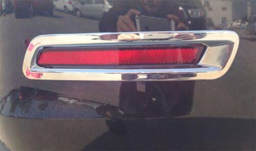 Chrome Rear Fog Light lamp cover Bezels trim For Chevy Malibu 2013 2014 2015