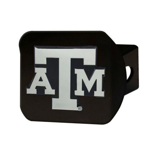 Fanmats NCAA Texas A&M Aggies Chrome 3D Black Metal Hitch Cover Del. 2-4 Day