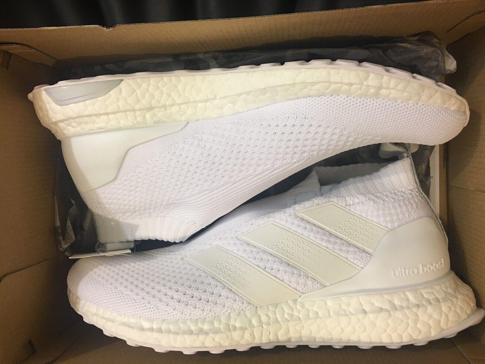 Neue adidas - - - schub ace 16 + ultraboost triple weißen schuh ac7750 männer größe 9. 34344e