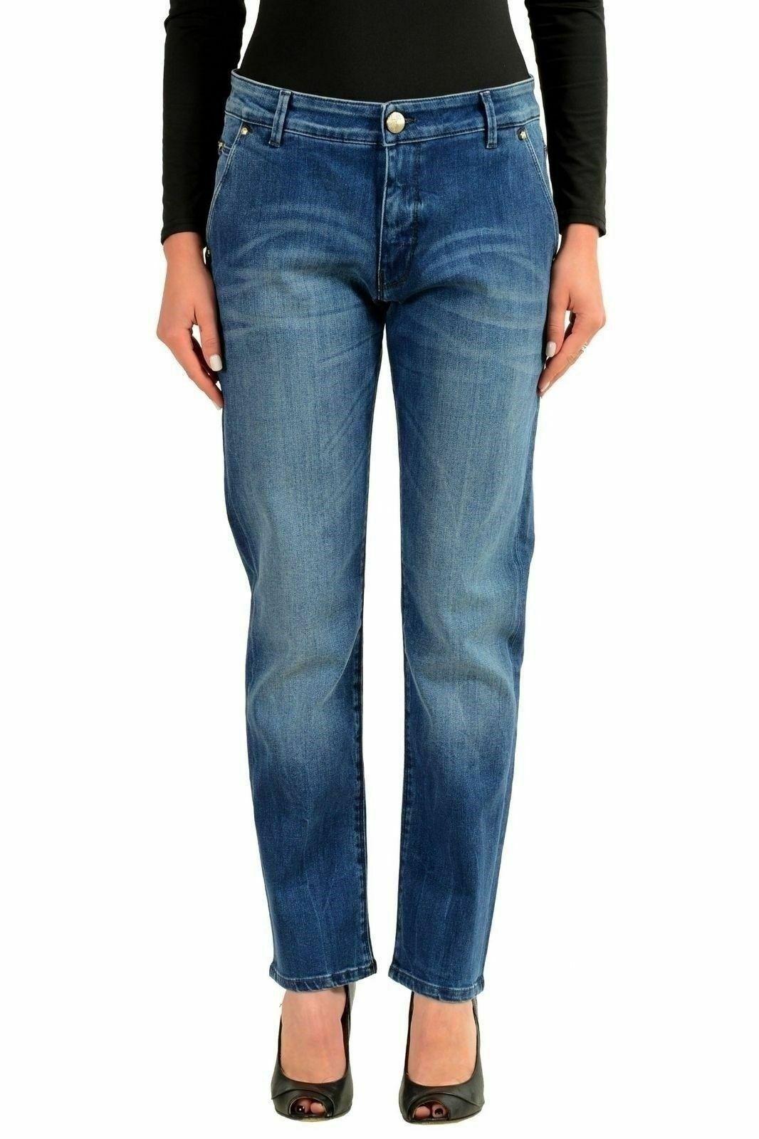 Versace Collection bluee Denim Women's Straight Leg Jeans US 4 IT 26