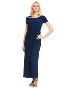 M-amp-S-BNWT-Navy-Crinkle-Maxi-Dress-Sizes-6-8-10-12-RRP-45