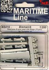 CMK Bismarck Paravane Life rings salvavidas & rescate anillos 1:200 Trumpeter