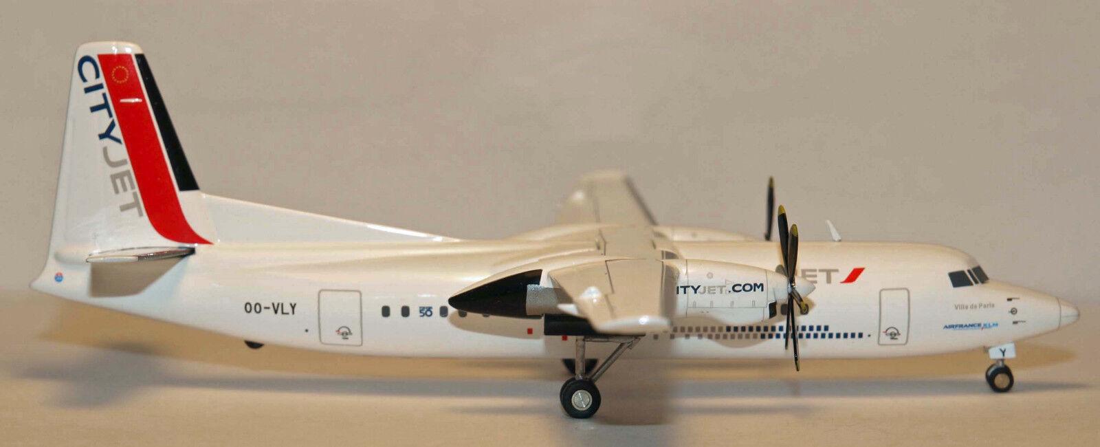 Herpa Wings Wings Wings 1 200 ciudad Jet Air France Fokker 50 F-50 Prod Id 554640 relsd 2012 24b0a0