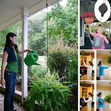 2Pcs Retractable Pulley Hanging Basket Pull Down Hanger Garden Plant Pots Hooks