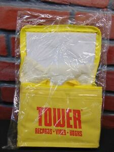Vintage-TOWER-RECORDS-COOLER-LUNCH-BOX-CARRIER-Unused-in-Packaging-PROMOTIONAL