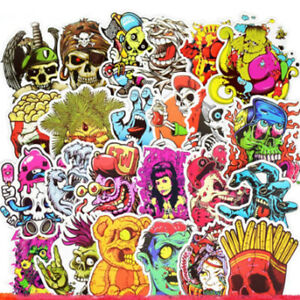 50-comic-Skull-StickerBomb-horror-monstruo-Pegatina-Sticker-Mix-Decals-retro