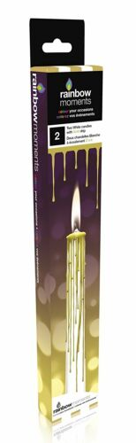 novelty chic drip candle GOLD Coloured Dripping Candle x 2 unique gift SP7224