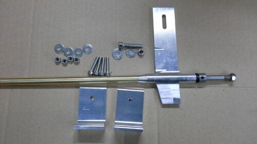 "Aluminum skeg strut with 1//4/"" cable shaft 700mm Full Set RC BOAT"