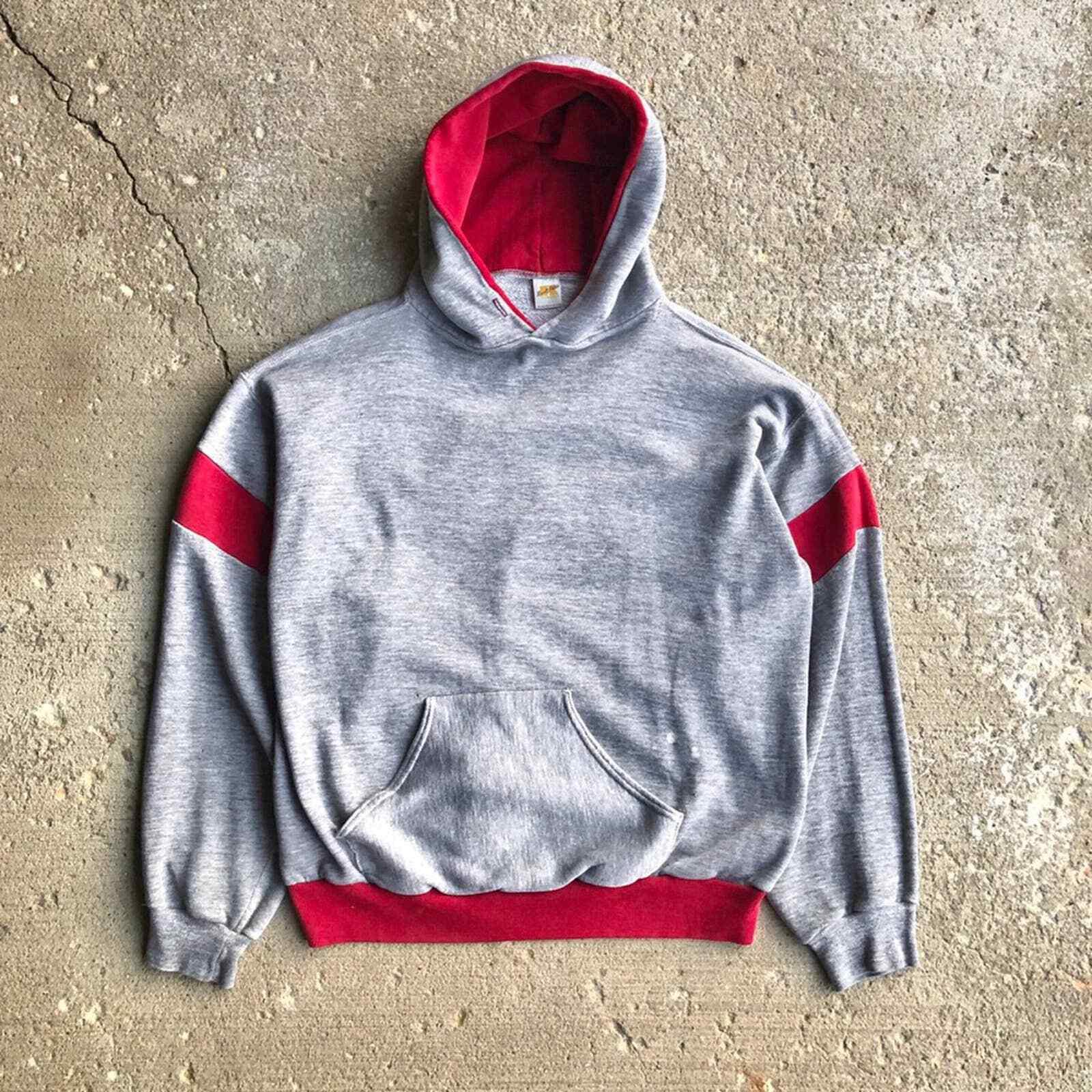 Vintage 70s Russell Athletic Hoodie Sweatshirt Tw… - image 1