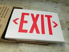 Hubbell Dual Lite Thermoplastic Led Exit Sign Lxurwei Wm White Amp Red 120v New
