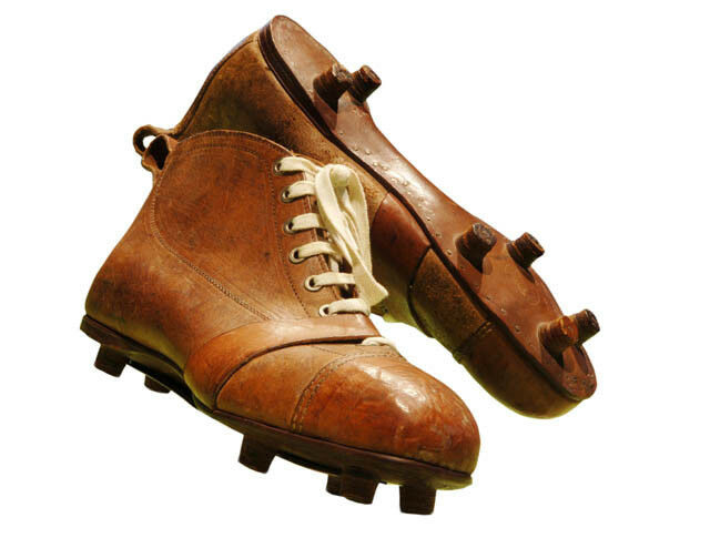 Football , rugby Stiefel vintage football Stiefel leather retro style style style  Größe 9 ball cda324