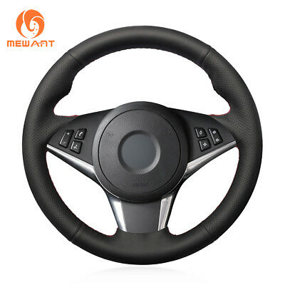 Top Leather Steering Wheel Hand-stitch on Wrap Cover For BMW 5 Series E60 535