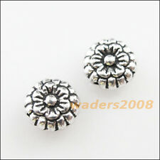 35 New Flower Star Charms Tibetan Silver Tone Spacer Beads 7mm