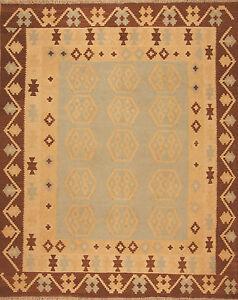Tapis-d-039-Orient-tisses-a-la-main-Afghanistan-Kelim-N-3311-246-x-200-cm-NEUF
