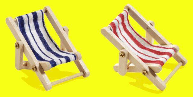 Mini-Dekoliegestuhl Klappstuhl Urlaub Deko-Liegestuhl Badezimmerdeko 5x3,5 cm