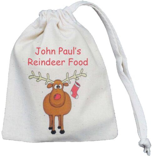 Personnalisé-Renne alimentaire sac-sac à cordon de coton minuscule fourni vide