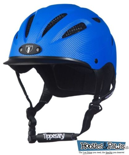 Tipperary Sportage Western Riding Helmet Low Profile Horse Safety Electric Blue