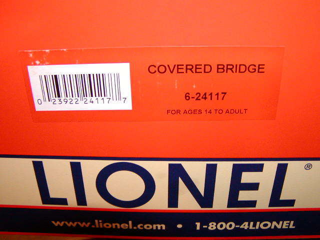 Lionel 6-24117 Covered Bridge 24  New O-27 2018 Metal Base Lighted Interior Mint