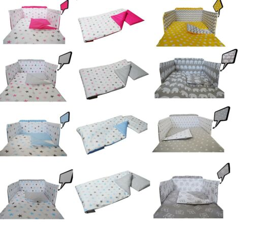 2/3/5 Piece Baby Bedding Set fit Cot 120x60cm or Cot Bed 140x70 -BABY GIRL BOY
