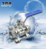 """1PC DN15 G1/2"""" Female 3-Piece Type Full Ports 304 Stainless Steel Ball Valve"""