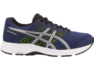 ASICS Gel-Contend 5 Hombres Azul Índigo En Funcionamiento Zapatillas zapatillas zapatos 1011A256.401