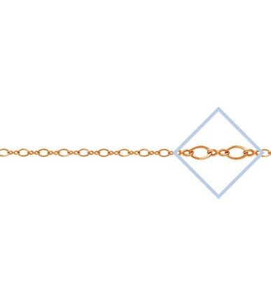 """14k Gold Filled 2mm Figure 8 Cable Chain 6/"""" Footage Jewelry Findings   #6924-3"""