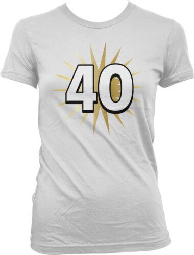 40 Gold Star Thirty Birthday Milestone Age Party Celebrate  Juniors T-shirt