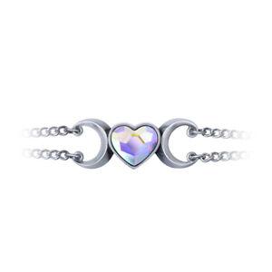 Thuwies-y-Galon-Bracelet-Alchemy-Gothic-Heart-Wiccan-Moon-Triple-Goddess-A131