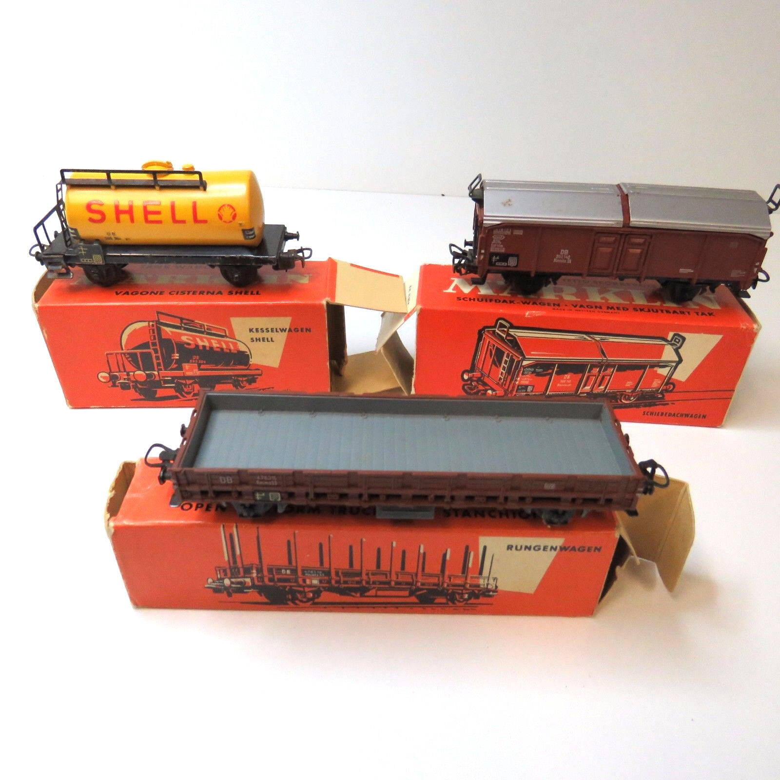 3 x Güterwagen Kesselwagen Märklin 4502 4607 4619 in Oranger OVP    Elegantes Aussehen
