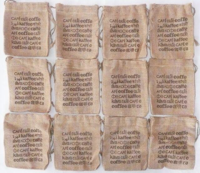 Lot Of 12 Burlap Coffee Bags 5 X 6 Gunny Sack New