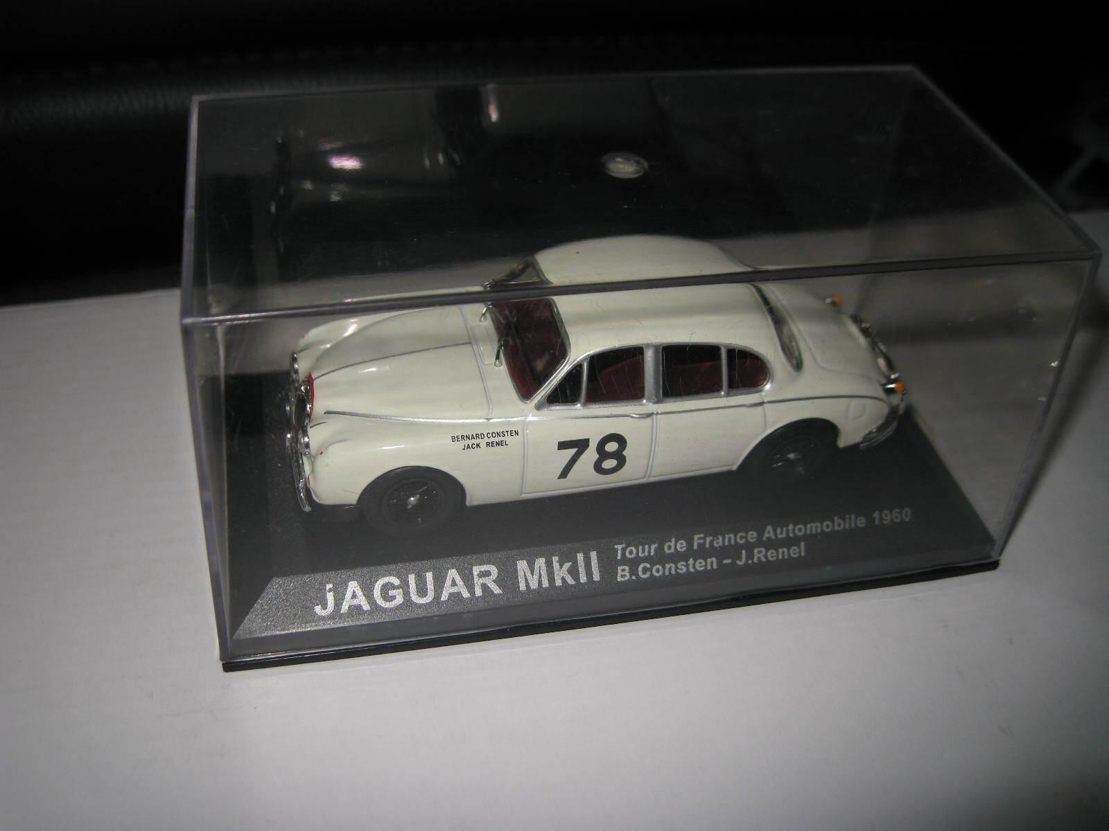 Jaguar Mkii Tour De France 1960 Consten-Renel Edicola 1:43 DEARALLY36