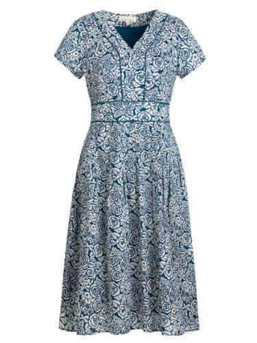 Nouveau Seasalt esquissé Rose Bleu villa jardin robe 100/% Coton 8-16 RRP £ 65