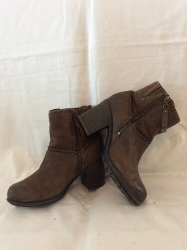 Boots 3 Size 5 Clarks Brown Leather Ankle qnwPU1