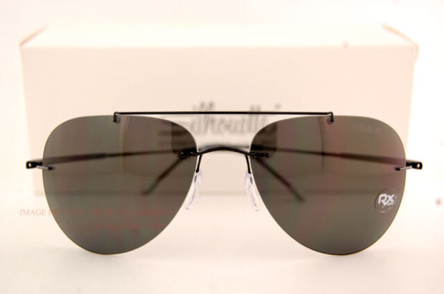 292448af2a7 New Silhouette Sunglasses SUN ADVENTURER 8142 6200 Black Grey Polarized For  Men