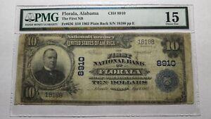 10-1902-Florala-Alabama-AL-National-Currency-Bank-Note-Bill-Ch-8910-PMG-FINE