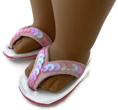 """Purple Flip Flop Sandals Fits Wellie Wishers 14.5/"""" American Girl Clothes Shoes"""