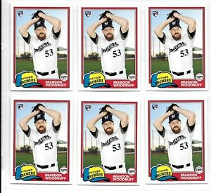 2018-Topps-Archives-Brandon-Woodruff-RC-Rookie-285-Lot-of-6-Milwaukee-Brewers
