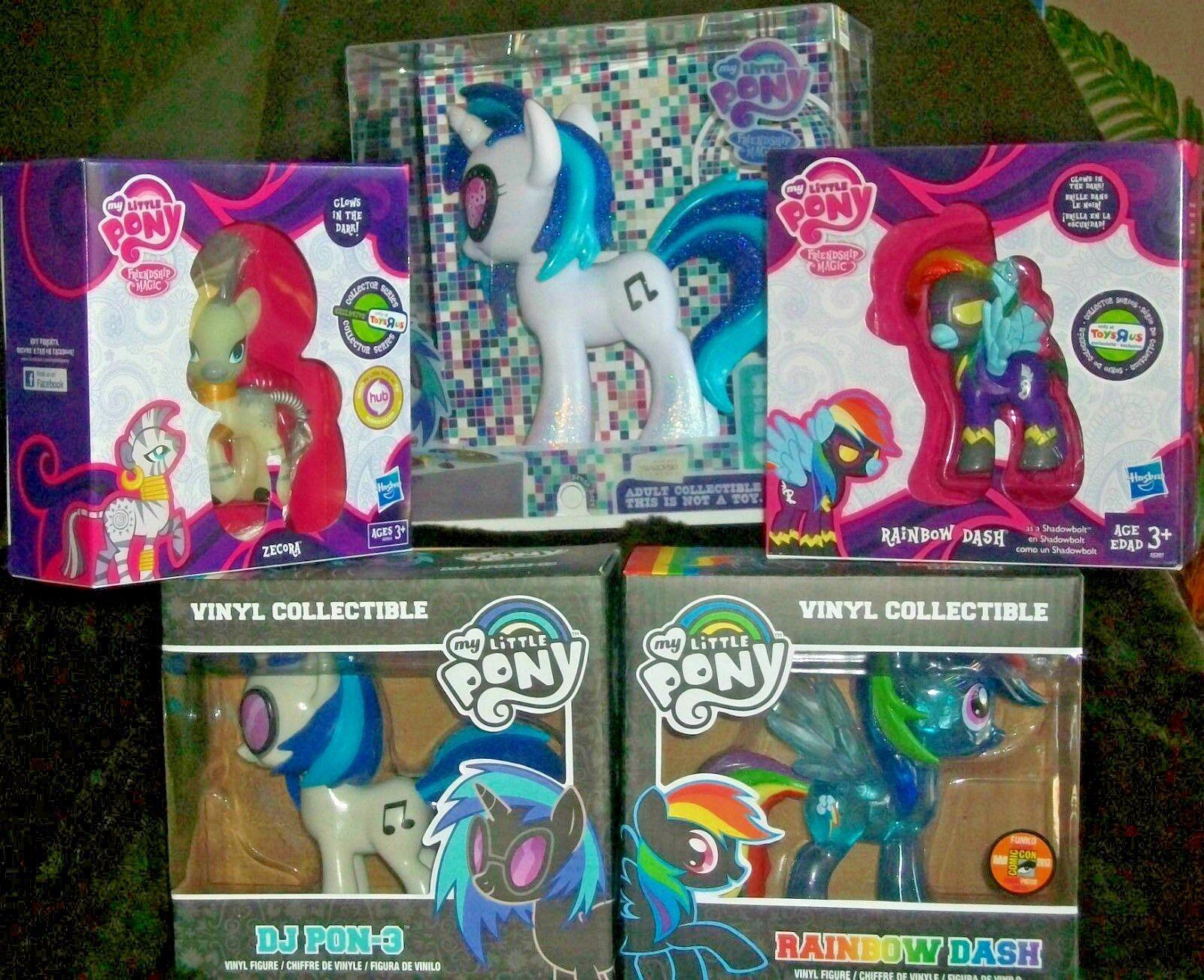 Set mit 5-sdcc 2013 B My Little Pony Dj Pon-Rainbow Strähne Funko &  | Erste Gruppe von Kunden