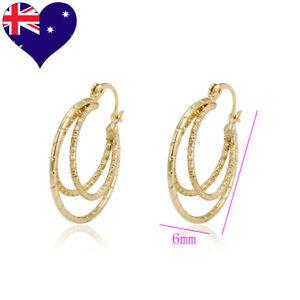 Women-039-s-On-Trend-Fashion-Diamond-Cut-Spiral-Hoop-Dangle-Earrings-Wedding-Jewelry