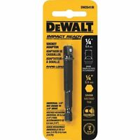 Dewalt Impact Ready Socket Adapter - 1/4 Hex To 3/8 Socket