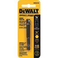 (6 Pack) Dewalt Impact Ready Socket Adapter - 1/4 Hex To 3/8 Socket Tools