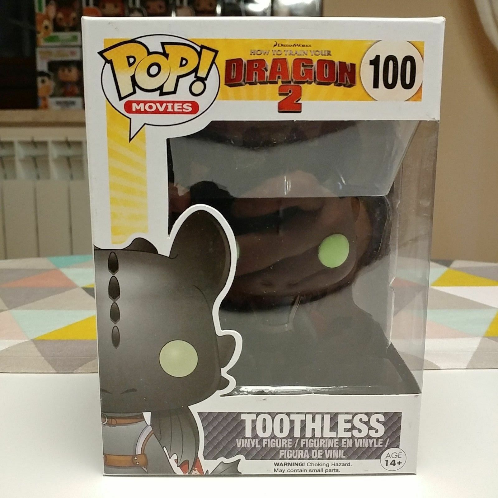 Funko Pop  VAULTED Howto Train Your Dragon - Toothless (Inclusa Pop  Prougeector)