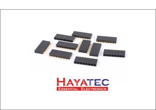Single Row Female Straight Pitch Headers PCB Pin Sockets Arduino Pi Boards 10 15